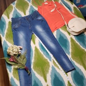 I Jean's medium rise skinny pant with 3 buttons
